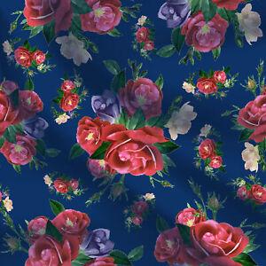 Verkauft-Floral-Cotton-Cambric-Stoff-von-1-Yard-44-039-039-Wide-Apparel-Kleid-Kissen