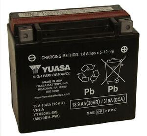 Genuine-Yuasa-YTX20HL-BS-PW-Motorbike-Motorcycle-Jetski-Battery-Inc-Filling-Kit