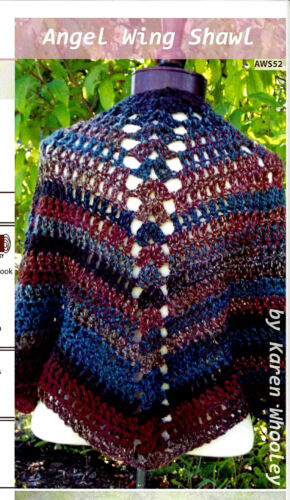 BEAUTIFUL LACY ANGEL WING SHAWL to CROCHET IN CHUNKY WT YARN by FIBER TRENDS