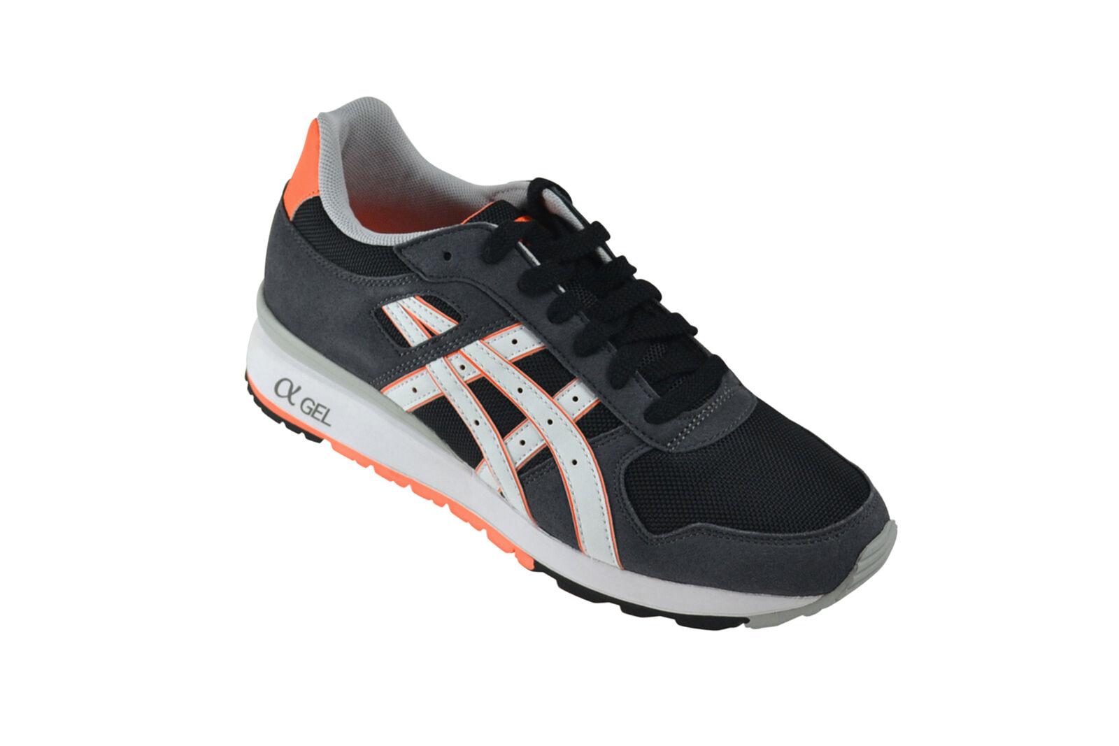 Asics GT-II black bright orange Sneaker grau H406N 9001