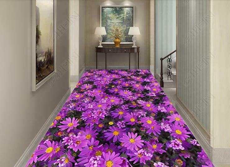 3D viola Vivid Flowers Non-Slip Rug Door Shower Play Mat Hearth Floor Carpet80