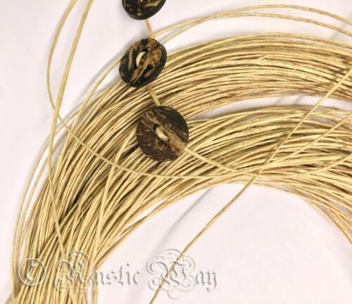 Polished Non Hairy Waxed Natural Jute Burlap Rustic Twine Cord String Jewellery