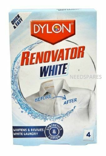 Dylon Tissu Renovator blanchisseur ranime illumine Blanc Linge Vêtements 4 sachet