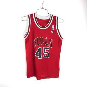 79eb64e2d0be8a Vintage 90s Chicago Bulls Michael Jordan  45 Jersey Youth L CHAMPION ...