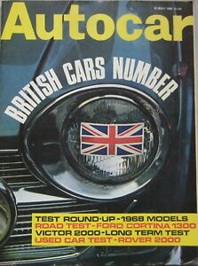 Autocar-magazine-16-May-1968-featuring-Ford-Cortina-road-test