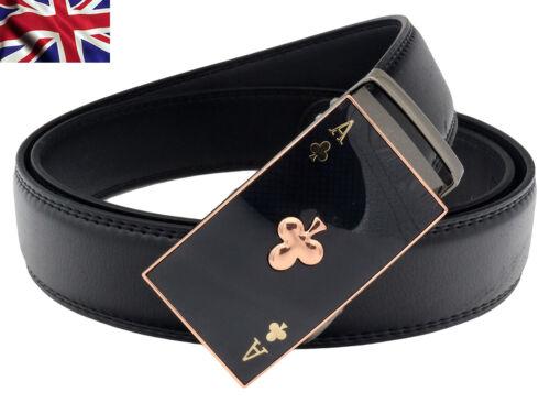 Da Donna Designer Cinture per Donne Ragazze Ace poker automatico a cricchetto cintura in pelle