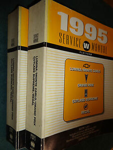 1995 Grand Prix Cutlass Supreme Shop Manual Set Pontiac Oldsmobile Olds Service