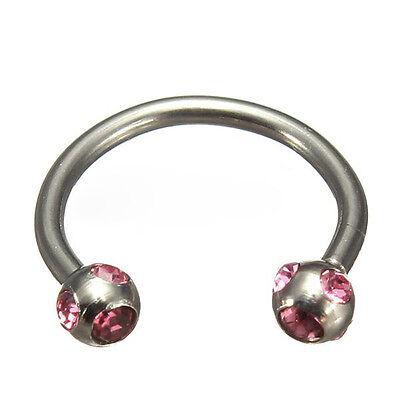 Crystal Surgical Steel Piercing Horseshoe Lip Bar Stud Nose Ear Nipple Ring Hoop