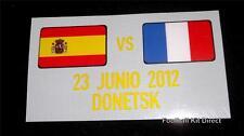 Oficial España Vs Francia Euro 2012 Camiseta De Fútbol Con Detalle Bandera Player Issue