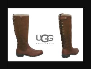 5 225 Ugg® Smithfield marrón cuero 38 5 de Reino altas Australia 7 Botas Eur Usa £ Unido Rrp x4UzUqAB