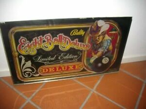 Backglass-for-pinball-Eight-Ball-DeLuxe-Limited-Edition-Bally