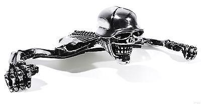Wyatt Gatling Lg1936 Chrome Skull Skeleton Headlight Visor Ornament Harley
