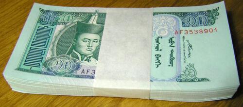 2002 Mongolia 10 Tugrik 2007 Tögrög Banknote Mongolian Paper Money P#62 UNC