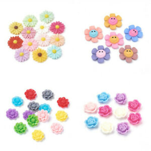Mixed-Resin-Flower-Cabochons-Cameo-Flat-Back-Charms-Jewelry-Embellishment