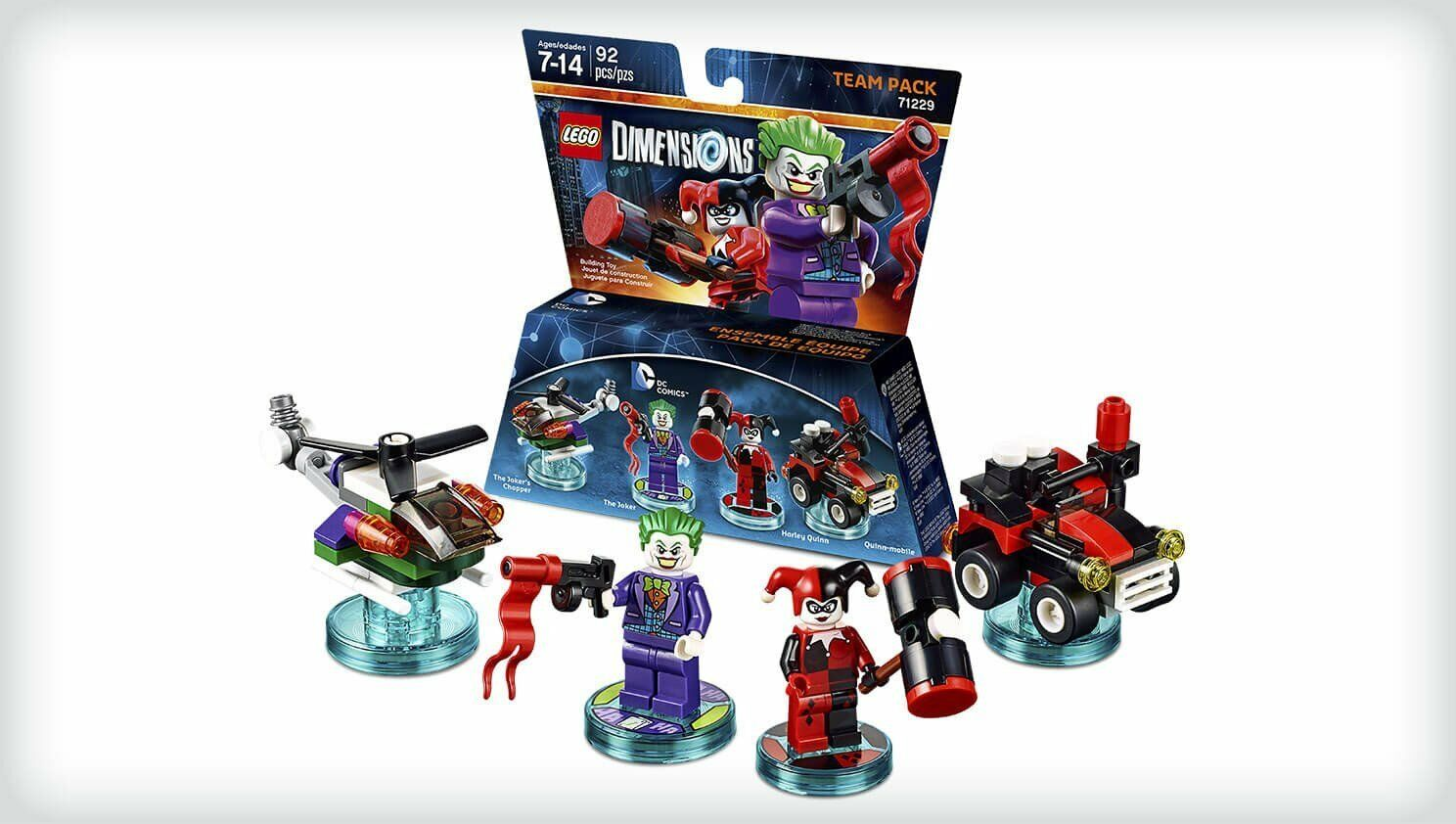 LEGO Dimensions 71229 The Joker Joker Joker Harley Quinn Batman DC Comics Figur Team Pack 282d4d