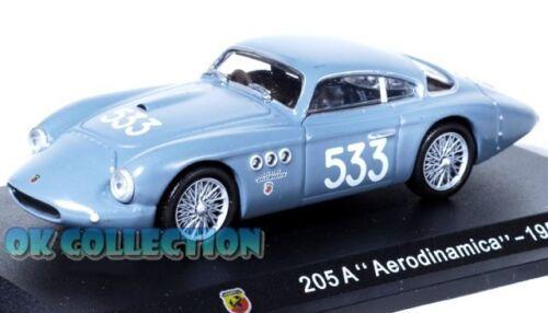 """. 1950 62 COPERCHIO BOX RIGIDO 1:43 modellino ABARTH 205 A /""""AERODINAMICA/"""""""