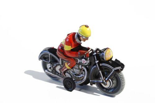 + Blechspielzeug MOTORRAD schwarz °° Tin Toy °° Jouet en Tôle °° Made in Germany