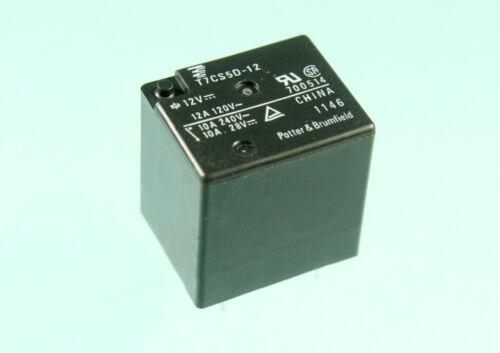 12A 120vac 1pc TE Connectivity 10A 240vac SPDT T7CS5D-12 12vdc Relay