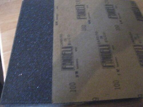 9 X 11 100 GRIT SANDING SHEETS A477-50