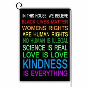 Garden Flag Double Sided 12 X18 House We Believe Black Lives Science Human Blm Ebay