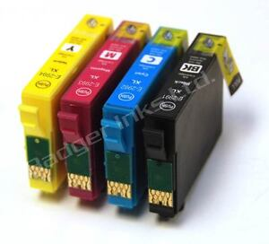 Set-of-4-non-OEM-Ink-Cartridges-Equivalent-to-Strawberry-Series-to-replace-29XL