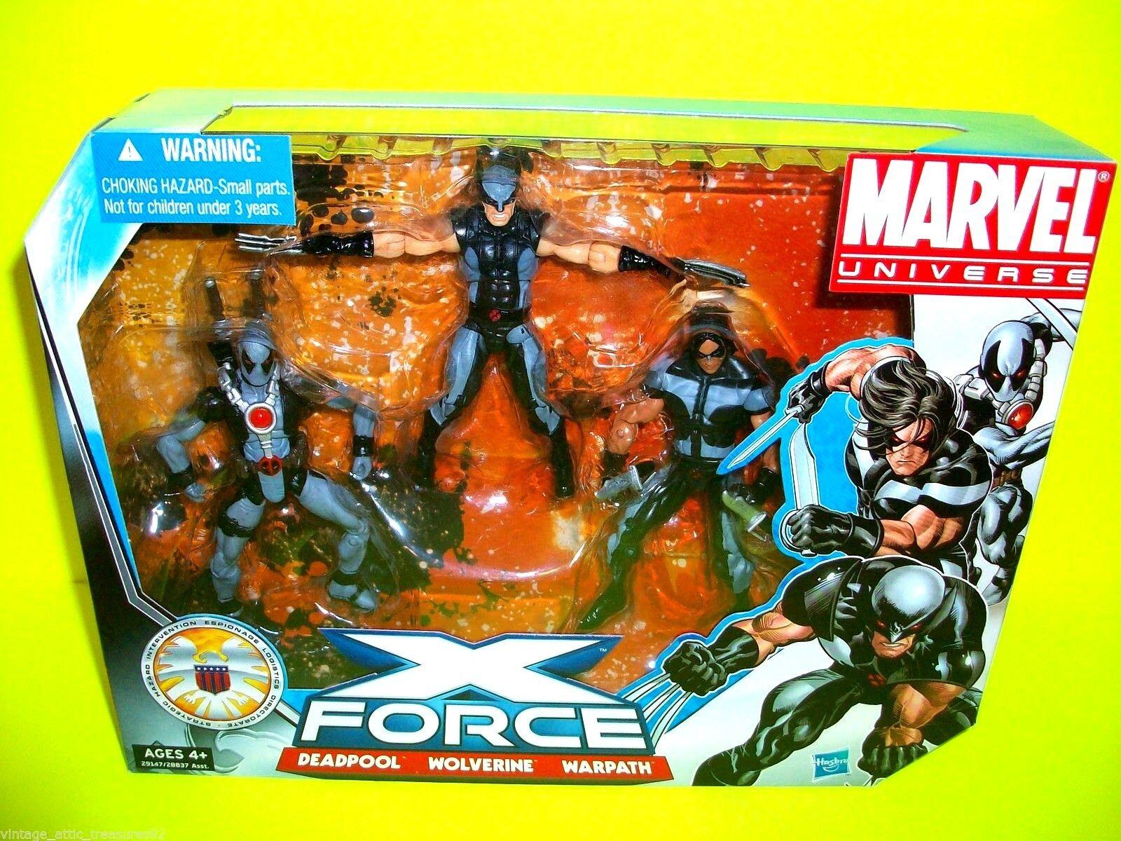 Deadpool X FORCE X Men Guepardo Warpath Marvel Comics Acción Figura 3 Pack