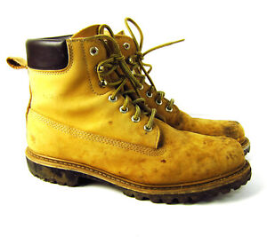 5c620350daf Details about Vintage Sears Die Hard Work Boots Mens 12 D Vibram Sole Tan  Leather Lining
