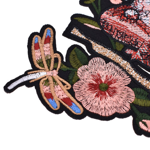 Flower Iron On Patch Floral Patches EmbroideryAppliqué Patches Hydrangea
