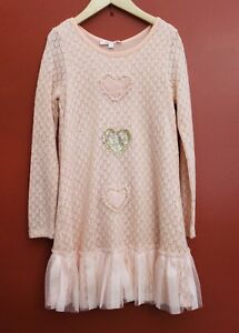NWT-Baby-Sara-Heart-of-Gold-Dress-in-Peach-Size-5