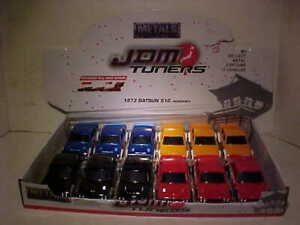 12-pack-1973-Datsun-510-Widebody-Diecast-Car-1-32-JDM-TUNERS-Jada-5inch-TRAY-BOX