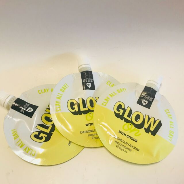 30fc1588d5251 3 Victoria's Secret Pink Glow on With Citrus Energizing Clay Face Mask 1.7  Oz