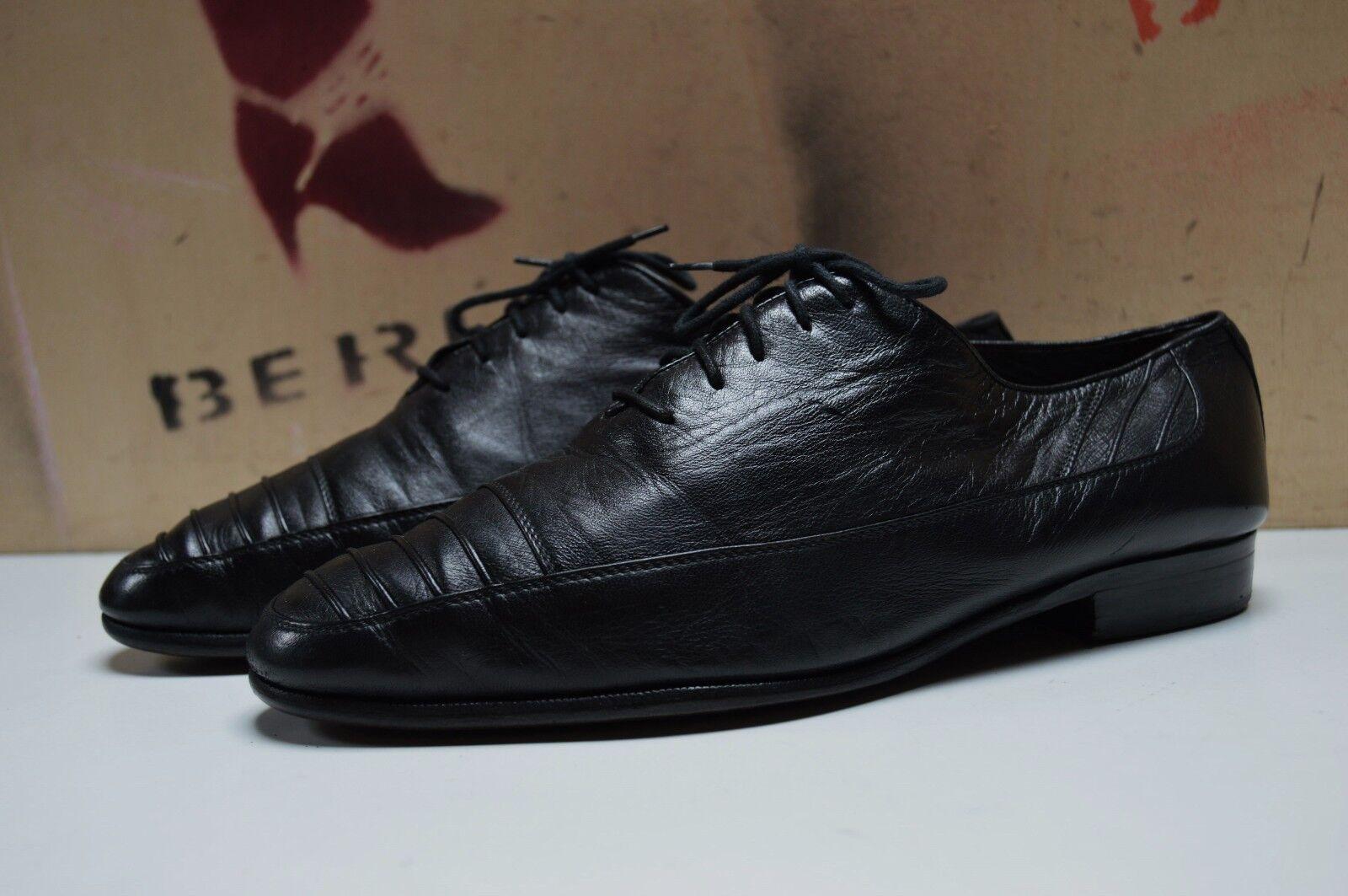 Aldo Bruè Herren Schnürschuhe Halbschuhe made italy True Vintage schwarz Schuhe