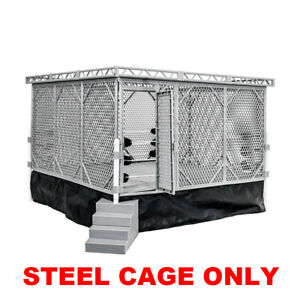 Steel-Cage-Playset-for-Figures-Toy-Company-Wrestling-Ring