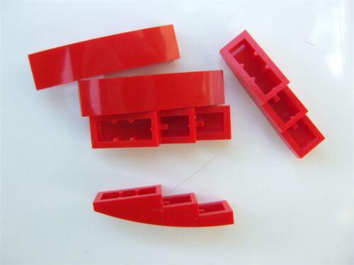5 x Lego brique rouge avec nœud 1x4-6045937 pièces et morceaux