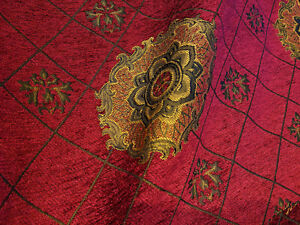 Chenille-Renaissance-Medallion-Home-Decor-Upholstery-Sold-By-the-Yard-sample