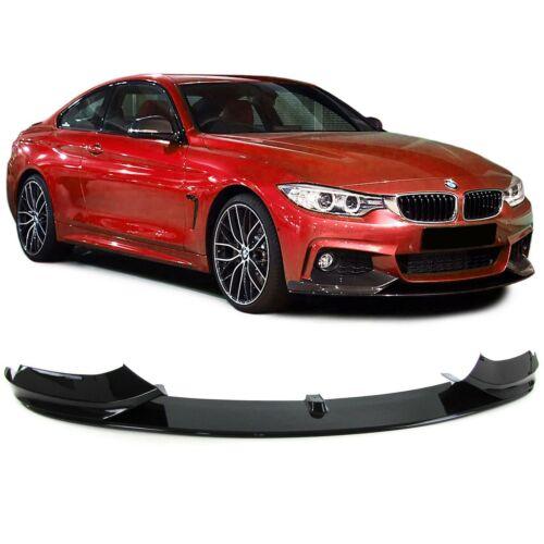 Front Becquet Lèvre approche pare-chocs sport Simili Noir Brillant Pour BMW 4er f32
