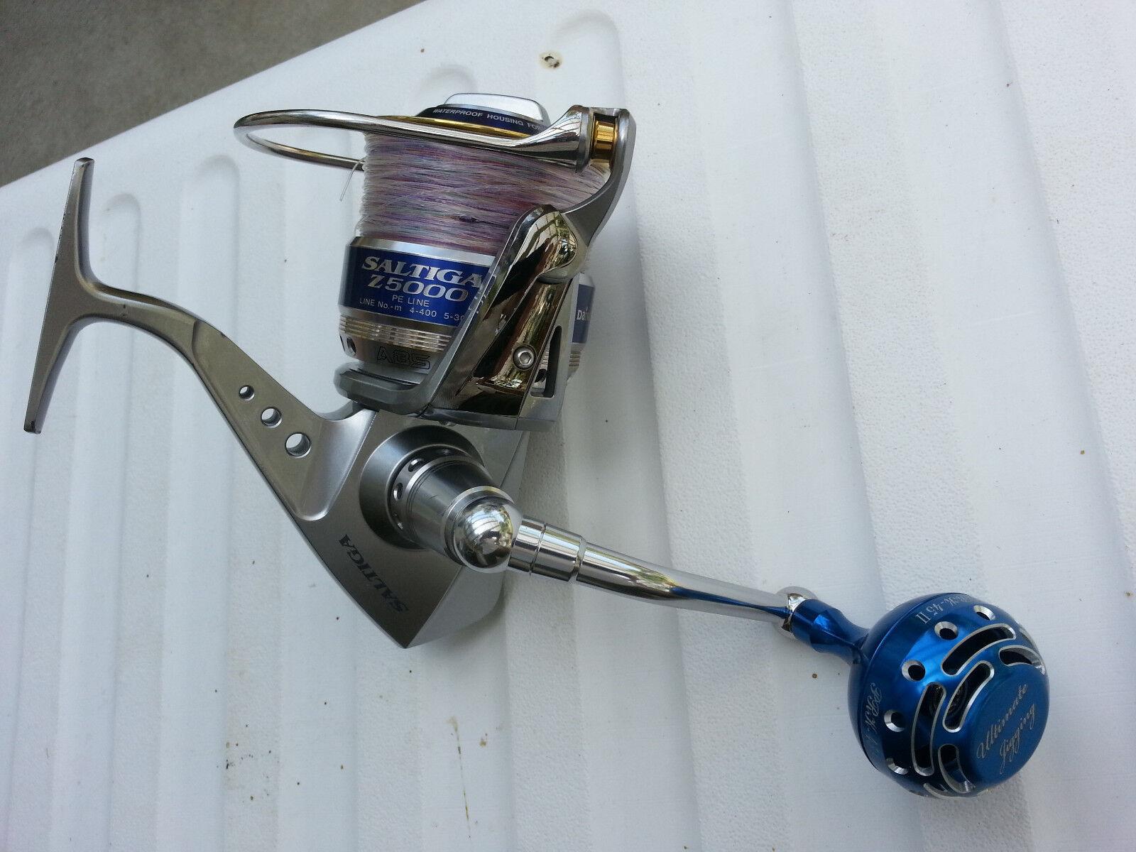 UJ PRK 45 II knob FITS Daiwa Daiwa Daiwa Saltiga Saltist 20 ~ 60 CVN & Spinning reel blu/SV eeebf5