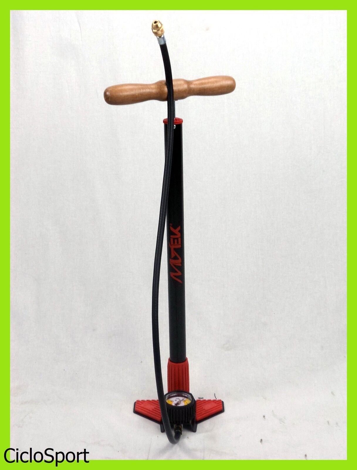 Pompa gonfiaggio alta pressione con manometro per bicicletta