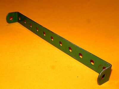 Meccano 10 of number 1 strips green used in condition