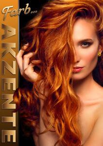 Aufkleber Plakat Poster Friseur Farb Akzente Werbung Versch