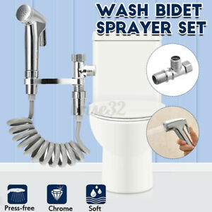 Handheld Spray Bidet Shower Head Adapter Wall Bracket Hose Toilet Bathroom Ki