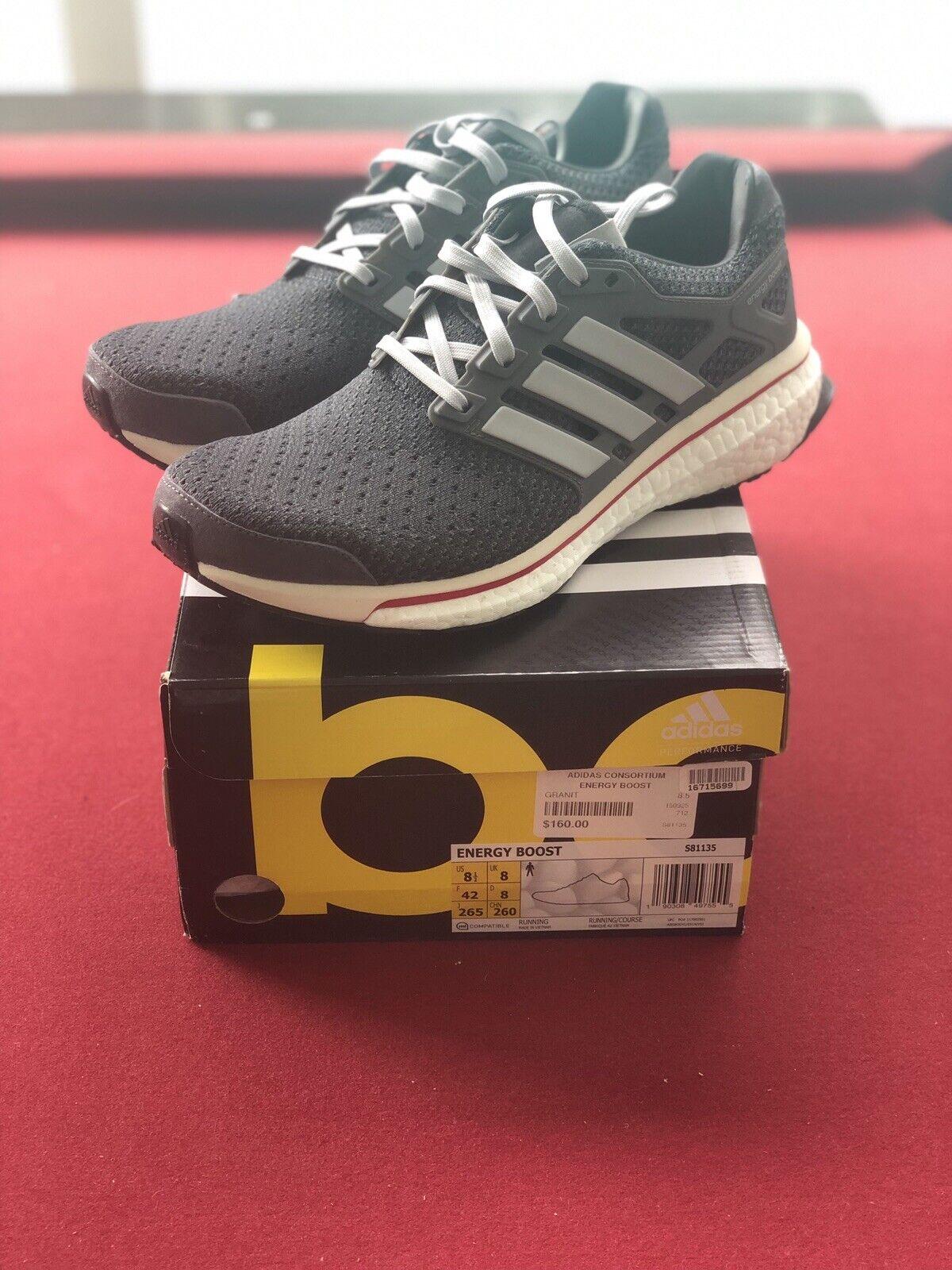 Adidas Energy Boost 'correre Thru Time' Granite aro S81135 Dimensione 8.5 Sautope classeiche da uomo