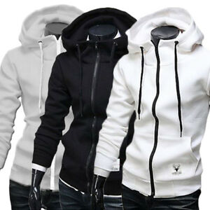 Mens-Hoodie-Sweatshirt-Sweater-Hooded-Casual-Tops-Jacket-Coat-Outwear-Zipper