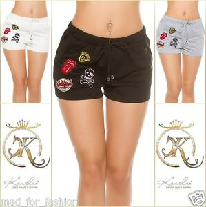 Sexy-Summer-Sweat-Shorts-with-Patches-UK-8-10-10-12-EU-36-38-38-40