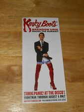 Kinky Boots Broadway w/ Panic At The Disco's BRENDON URIE Rocks The Runway FLYER