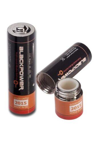 Batterie Versteck Mignon Typ AA Attrappe Versteckdose Geheimfach Pillendose Safe