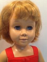 VINTAGE 1960 MATTEL STRAWBERRY BLONDE CHATTY CATHY DOLL in ORIGINAL RED SUNSUIT!