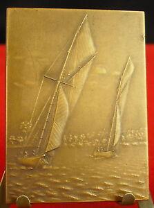 Medaglia-Plaque-Sport-Nautico-Della-West-Nantes-Firmato-Desaide-Medal-Regata