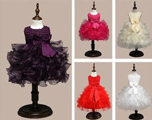 Kids-Girls-Flower-Sequin-Bridesmaid-Princess-Wedding-Party-Communion-Tutu-Dress