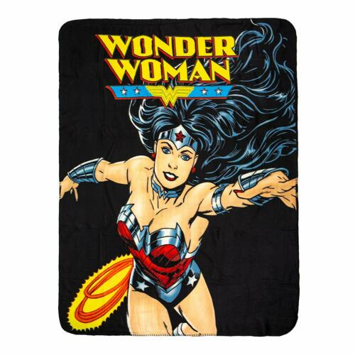 Marvel DC Batman Flash Superman Wonder Woman Monroe Pitbull Fleece Blanket